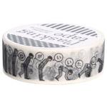 『包む』 マスキングテープ 15mm×10m サラリーマン
