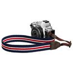 カメラストラップ プラスシェル ストライプストラップ 30 ネイビー/レッド