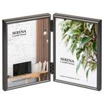 メタルフォトフレーム セレーナ01 Lサイズ 2面 ブラック