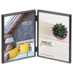 メタルフォトフレーム セレーナ01 2Lサイズ 2面 ブラック