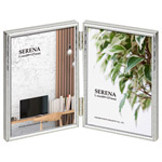 メタルフォトフレーム セレーナ02 Lサイズ 2面 シルバー