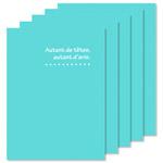 ハクバ 写真台紙 ランス ドゥ Lサイズ 2面 5枚セット ブルー