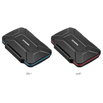 ハクバ ハードメモリーカードケース XQD6(ブルー/レッド)