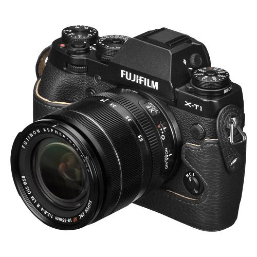 ハクバ FUJIFILM X-T1専用 本革ボディケース ブラック