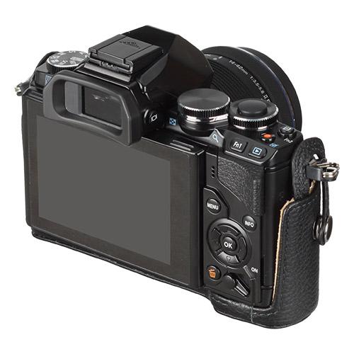 ハクバ OLYMPUS OM-D E-M10専用 本革ボディケース ブラック