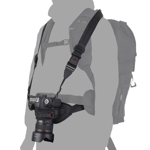 一眼カメラ携行時の揺れ防止に
