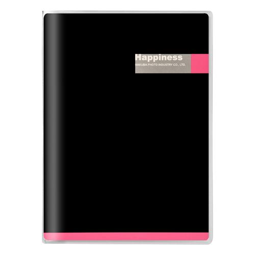 Pポケットアルバム 表紙:ブラック/ピンク