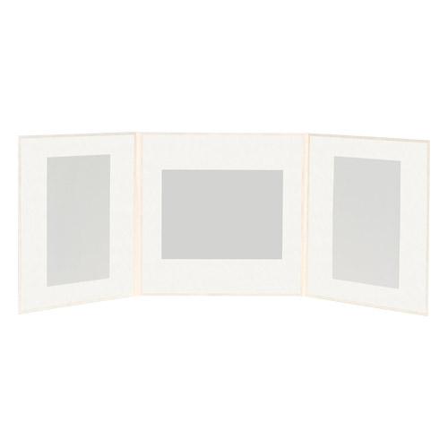 ハクバ スリムスクウェア台紙 ポストカード(KG)サイズ 3面(角×3枚)