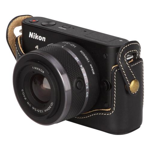 ピクスギア 本革ボディケース Nikon 1 J2 / J1 専用